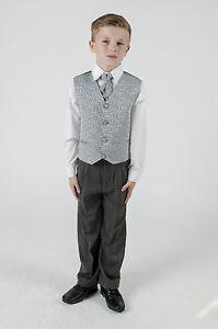 Baby-Boys-Grey-Waistcoat-Suit-Grey-Wedding-Suit-Pageboy-Suit-4-piece-Suit
