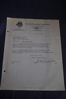 1946 Atlas Powder Company Explosives Department Letterhead