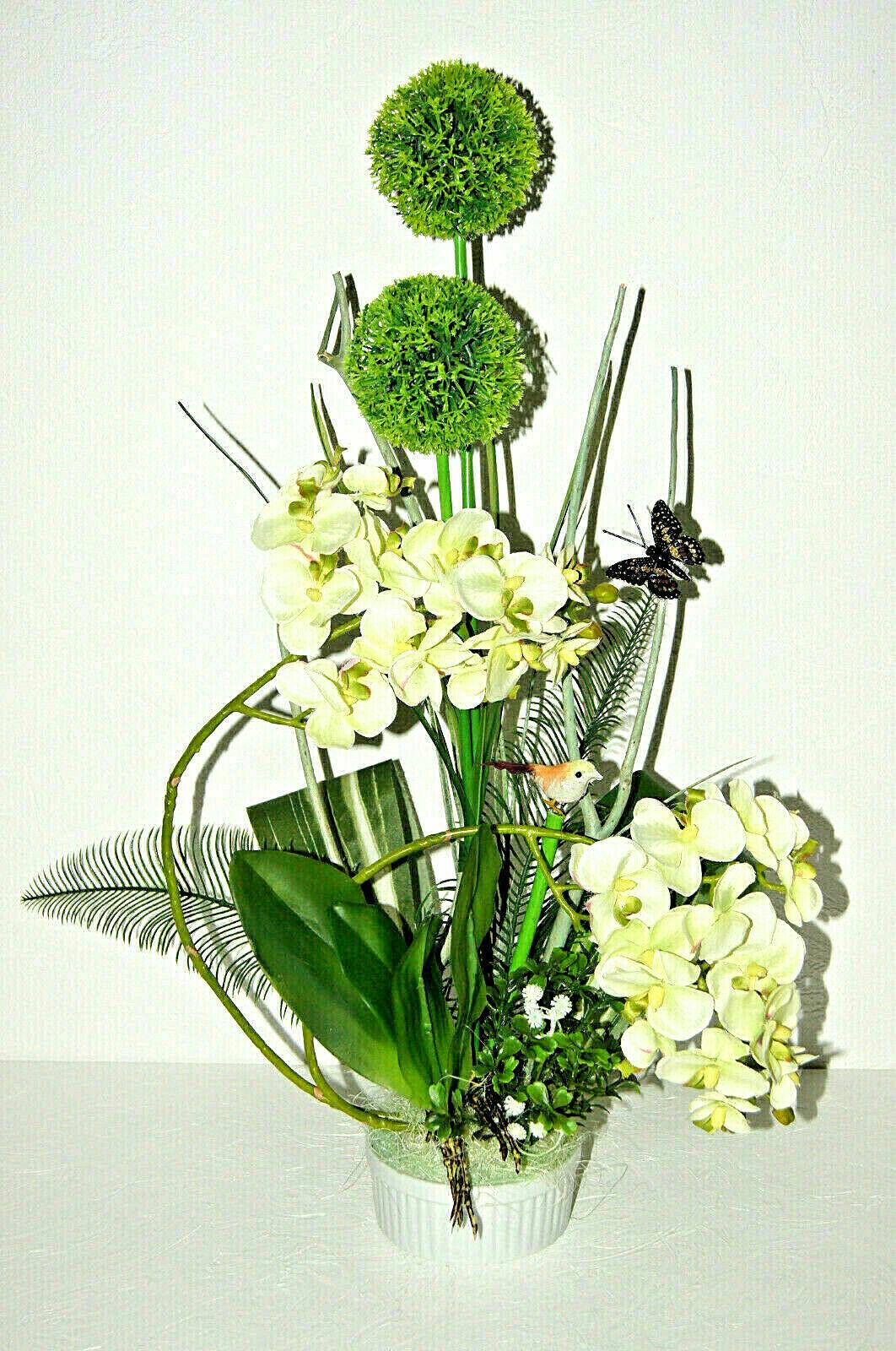 Orchidee Kunstpflanze Phalaenopsis Arrangements Grün Kunstblumen Dekoration