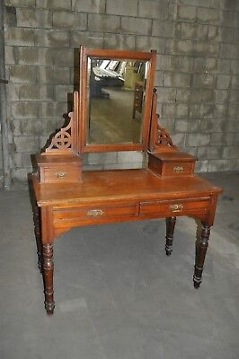 1900-1950 Antique Desk With Mirror