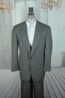 Brooks Brothers Brooksease Men's Gray & Blue Plaid All Season Wool Suit 42R 42 R