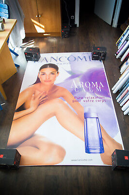 LANCOME AROMA CALM 4x6 ft Bus Shelter Original Fashion Advertising Poster 2000
