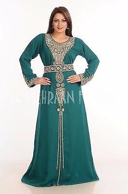 Elegante Marroquí Boda Vestido Takshita Thobe Árabe Islámico Vestido 112