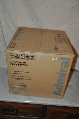 """Vintage  NEW OLD STOCK  Sealed  13"""" Color Admiral  Television  2008 WARDS"""