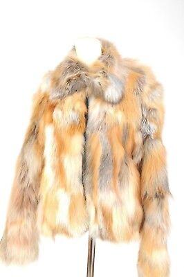 Womens Sam New York Fox Fur Coat Jacket Size M New  1595