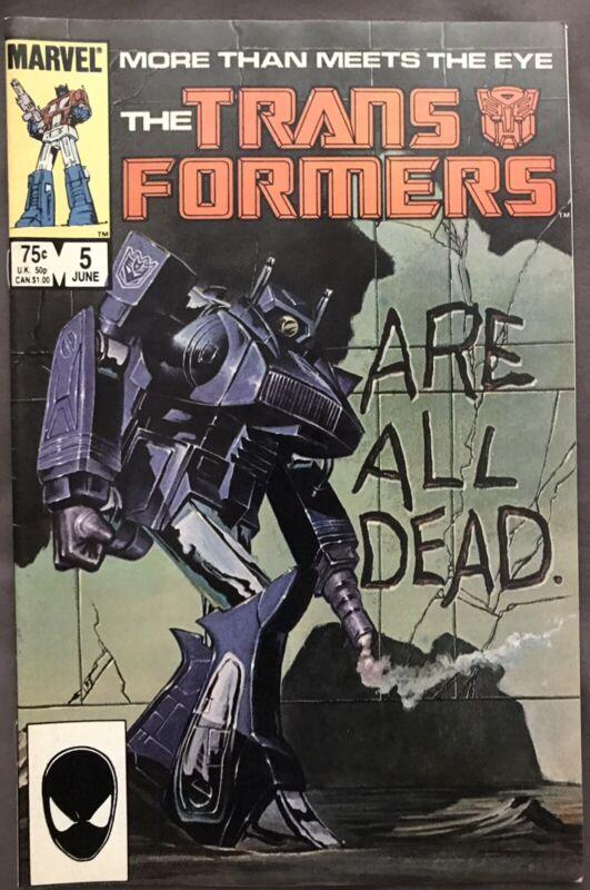 TRANSFORMERS #5  1985 SHOCKWAVE COVER