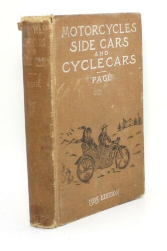 Motorcycles Sidecars and Cyclecars Construction Management Repair Antique Manual