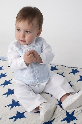 4tlg. Baby Taufanzug Festanzug Kinderanzug Jungen Anzug Babyanzug Festlich