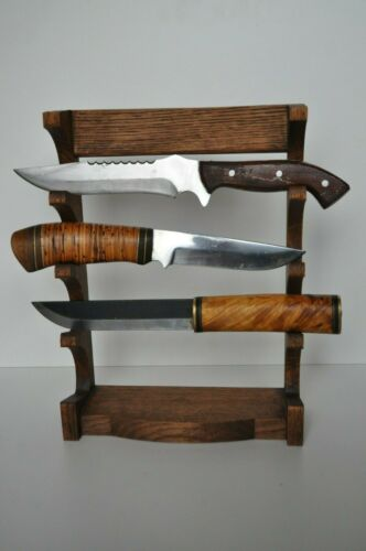 Shelve vertical Stand 3 tier Bowie Knife Display Holder