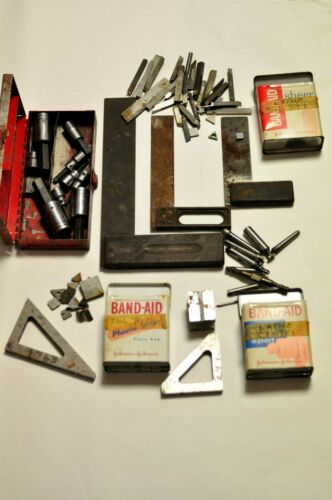 Assorted bits, tools and accessories from a metal working man.