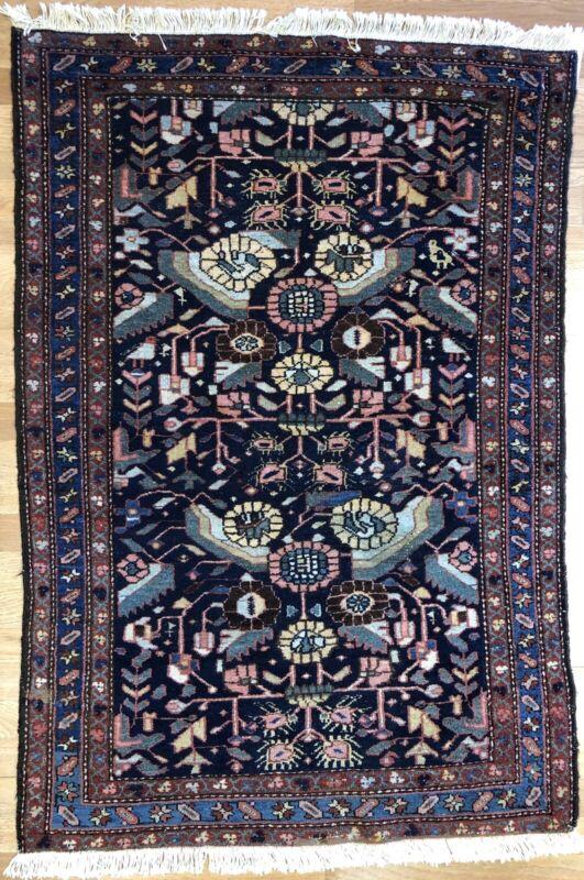 Beautiful Bakhtiari - 1900s Antique Persian Rug - Hamadan Carpet - 3.2 X 4.8 Ft.