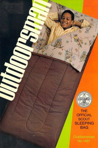 OUTDOORSMAN Official Sleeping Bag AD  Boy Scouts of America 6x9 postcard AD BACK