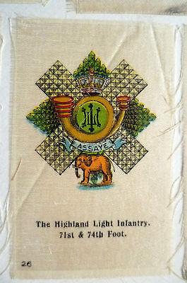 B.D.V. Cigarettes Silk- THE HIGHLAND LIGHT INFANTRY 71st & 74th Foot