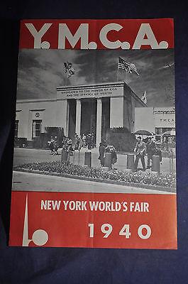 1940 New York Worlds Fair YMCA Brochure