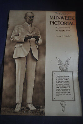 1918 *WW1 President Wilson* Mid Week Pictorial - NY Times CAPTURED GERMAN TANK