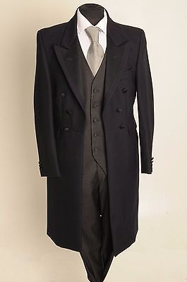MJ-22-2 MENS & BOYS NAVY FROCK COAT 2PIECE SUIT 100% WOOL WEDDING/STEAM/PUNK - Punk Suit