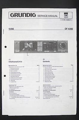 GRUNDIG CF 4200 Original Cassette Deck Service-Manual/Schaltplan/Diagram o85 online kaufen
