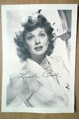 Photograph- Lucille Ball with print Autograph (apx.12.5x9 cm)
