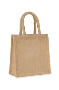 Small Sandwich Natural Jute Hessian Bag (20 x 20 x 10cm) **PACK OF 5**