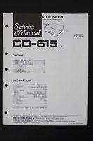 Pioneer Cd-615 Originale Crossover Rete Manuale Di Servizio/schema Elettrico/ - pioneer - ebay.it