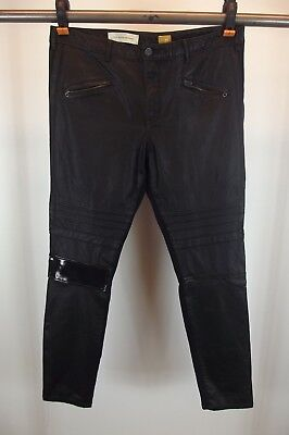 Anthropologie Pilcro and the letterpress Womens Faux Leather Pants Jeans No. 32