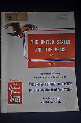 1945 The United States News   United Nations Conference On International Organiz