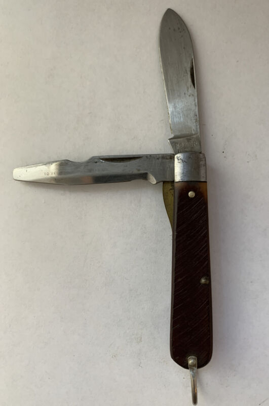 BOKER TREE BRAND KNIFE MADE IN USA #9229  ELECTRICIANS VINTAGE FOLDING POCKET