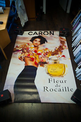 CARON FLEUR DE ROCAILLE 4x6 ft Bus Shelter Original Vintage Fashion Poster 1993