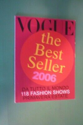 Vogue Italy Set of n.665 January 2006 Fashion Shows Spring/Summer the