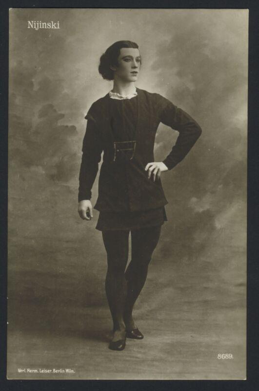 "Waslaw NIJINSKY (Ballet): Original Postcard Photograph in ""Giselle"""