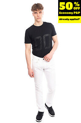 RRP €145 MAURO GRIFONI Jeans Size 32 Crumpled Effect Button Fly Made in Italy