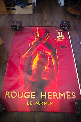 HERMES ROUGE 4x6 ft Shelter Original Vintage Fashion Poster 2000