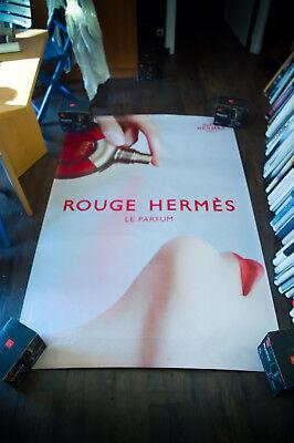 HERMES ROUGE ZOE HAWKINS 4x6 ft Shelter Original Vintage Fashion Poster 2000