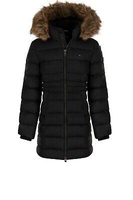 Tommy Hilfiger Winterjacke für Kinder Mädchen Damen Jacke mit Fell Gr 164 J1 Neu