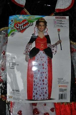 NEW~GIRLS~QUEEN OF HEARTS~DRESS~ACCESSORIES:CROWN,SCEPTER Size M(8-10)SUPER - Queen Of Hearts Wand