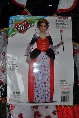 NEW~GIRLS~QUEEN OF HEARTS~DRESS~ACCESSORIES:CROWN,SCEPTER Size M(8-10)SUPER - Queen Of Hearts Scepter