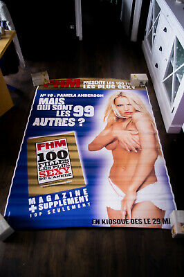 PAMELA ANDERSON FHM WORLD MOST SEXY 4x6 ft Bus Shelter Original Poster 90's