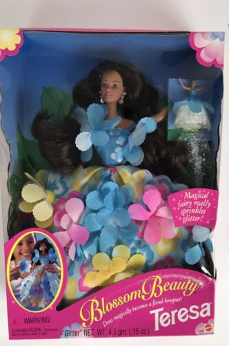 Blossom Beauty Teresa Barbie Doll Fairy Sprinkles Glitter Spring Flowers