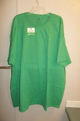 Mens Fruit of the Loom T-Shirt Tagless label Green Color Size 4XL Crew Neck NEW