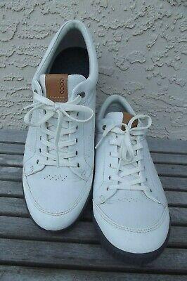 Ecco TPU Hydrorail Spikeless Mens White Golf Shoes 44 / 10 us VGC Free Ship Mens Spikeless Golf Shoes