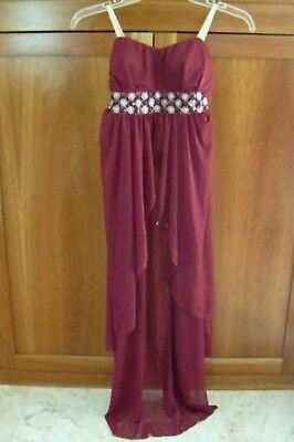 Burgundy Dance Dress & Booty Shorts Costume Arabian Harem Genie XS SALE PRICE!](Arabian Harem)