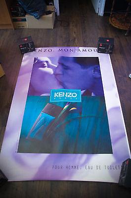 KENZO MON AMOUR Style B 4x6 ft Bus Shelter Original Vintage Fashion Poster 1998