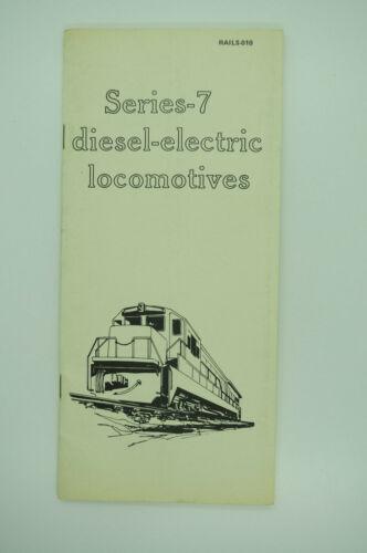 1978 GE General Electric Dash-7 Series Diesel Locomotive Operators Manual