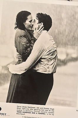 FOUR WEDDINGS AND A FUNERAL (1994) Press Kit Photos; Hugh Grant, Andie MacDowell