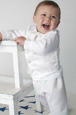 Baby Taufanzug 4-teilig Kinderanzug Festanzug Jungen Anzug Festlich Babyanzug