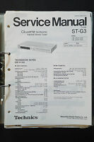 Technics St-g3 Fm/am Tuner Original Service Manual/service-manual/ -  - ebay.co.uk