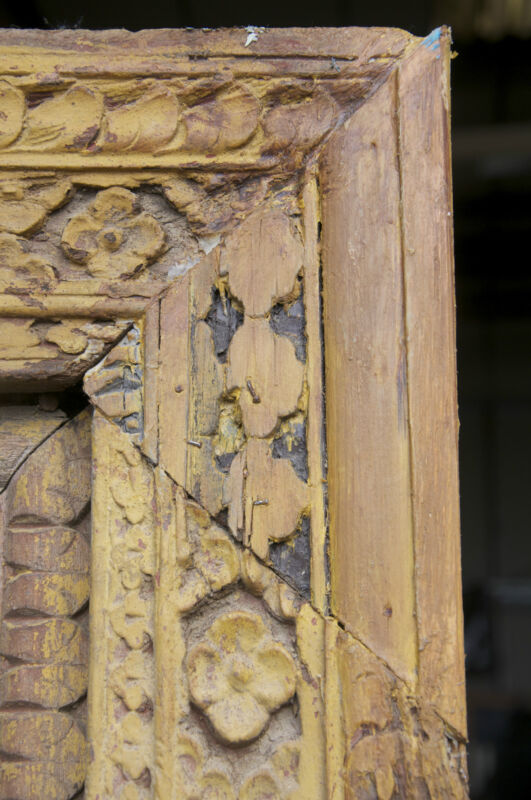 Carved Window shutters and frame