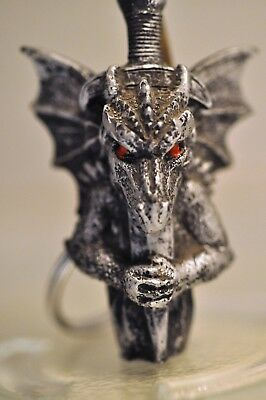 Dragon Key - Dragon EVIL Demon GOTHIC BIKER  KEY CHAIN  Purse Charm NEW