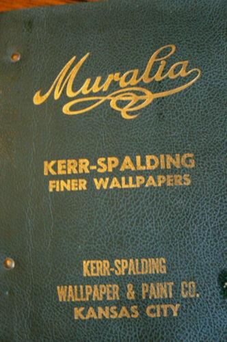Vintage Wallpaper Sample Book Muralia Kerr-Spalding Kansas City MO Washable