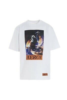 HERON PRESTON whites times print shirt SIZE XL
